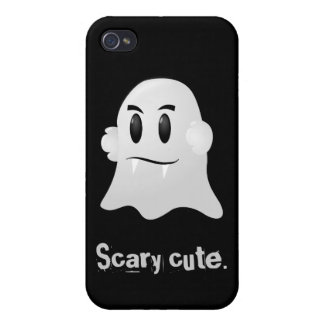 Happy Halloween scary cute kawaii vampire ghost Cover For iPhone 4