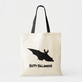 Happy Halloween Scary Vampire Bat Design Canvas Bag