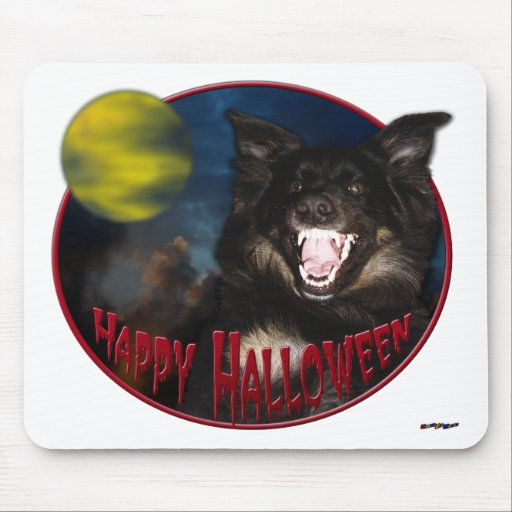 Happy Halloween Scary Wolf Mouse Pads