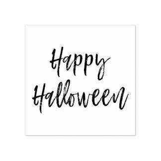 Happy Halloween Script Modern Stamp
