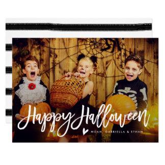 Happy Halloween Script Overlay Photo Card