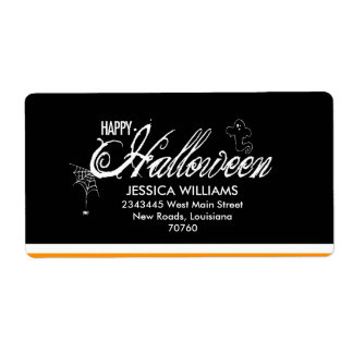 Happy Halloween Shipping Label