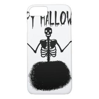 Happy Halloween Skeleton Ballet Dancer in Black iPhone 8/7 Case