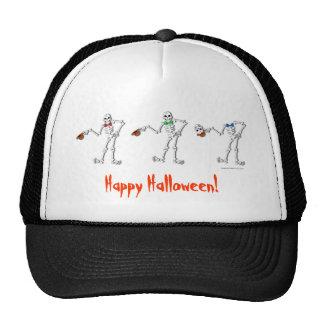 Happy Halloween Skeleton Trio Hat