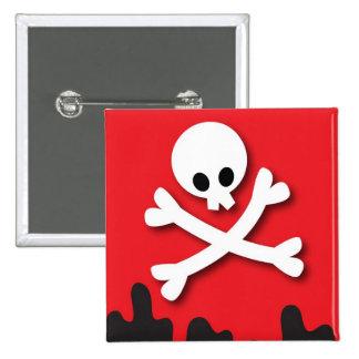Happy Halloween! skull and crossbones 15 Cm Square Badge