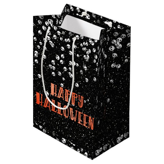 Happy Halloween Skull Confetti and Glitter Bag
