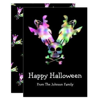 Happy Halloween Skull Ghosts Skull and Crossbones 13 Cm X 18 Cm Invitation Card