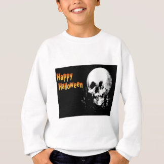 Happy Halloween Skull Optical Illusion Sweatshirt