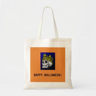 HAPPY HALLOWEEN SKULL TOTE BAG