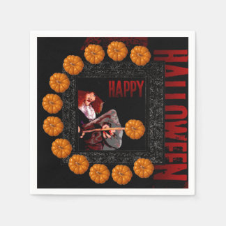 Happy Halloween small Pumpkins Witch Paper Napkins