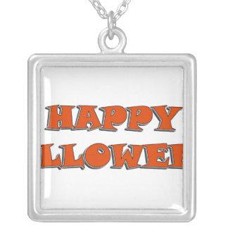 Happy Halloween Snappy Orange Text Design Pendants