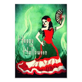 happy halloween spanish dancer 9 cm x 13 cm invitation card