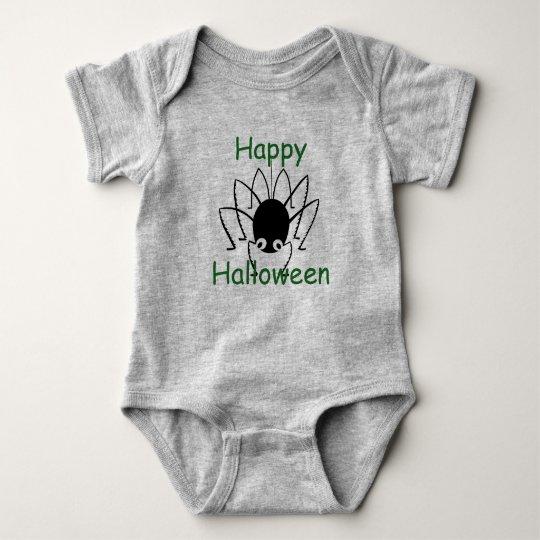 Happy Halloween Spider Baby Bodysuit