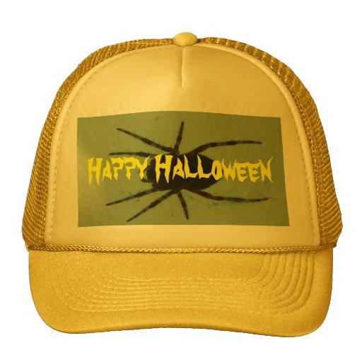 Happy Halloween Spider Mesh Hats