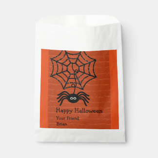 Happy Halloween Spider Personalised Favour Bags