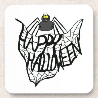 Happy Halloween Spider Web Coaster