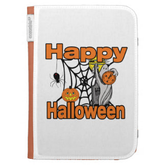 Happy Halloween Spider Web Ghost Kindle Covers