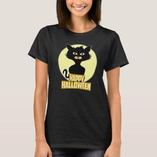 Happy Halloween Spooky Funny Black Cat T-shirt