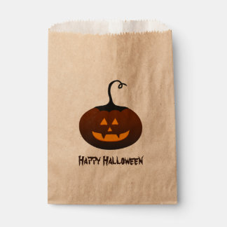Happy Halloween Spooky Jack O Lantern Pumpkin Favour Bag