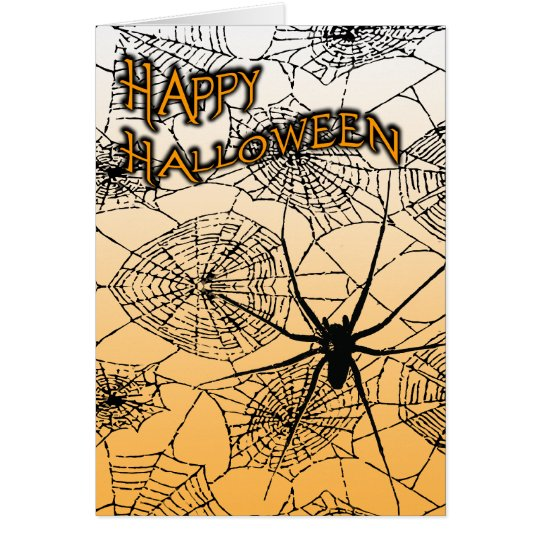 happy halloween : spooky spider : card