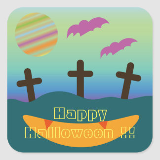 Happy Halloween!! Square Sticker