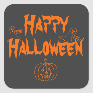 Happy Halloween Square Sticker