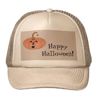 Happy Halloween! Startled Pumpkin Hat
