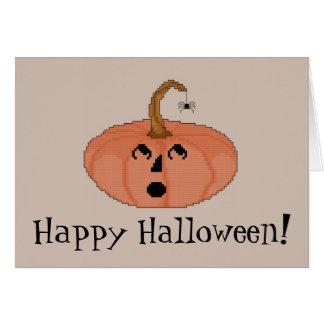 Happy Halloween! Startled Pumpkin Notecard