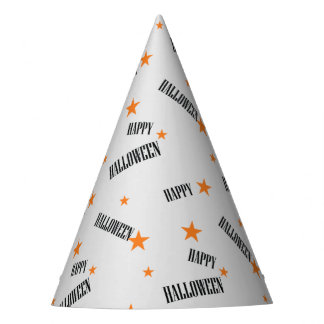 Happy Halloween, starts pattern Party Hat