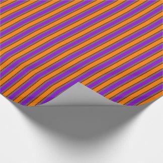 Happy Halloween Stripes Too Gift Wrap