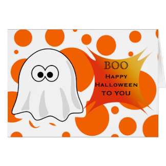 Happy Halloween to you with Halloween Boo Ghost Greeting Card