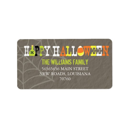 Happy Halloween (Today's Best Award) Address Label