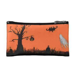 Happy Halloween Tree Ghost Bat  Cosmetic Bag