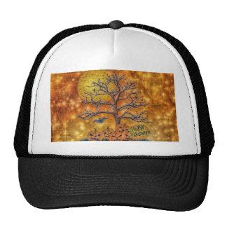 Happy Halloween tree Mesh Hat
