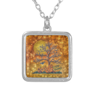 Happy Halloween tree Personalized Necklace