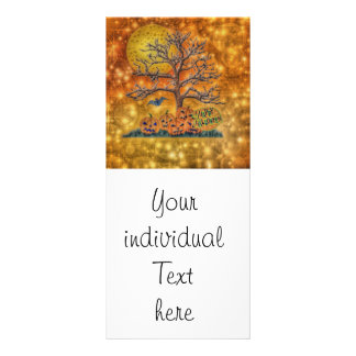 happy halloween,tree personalized rack card