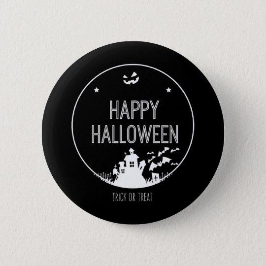 Happy Halloween Trick Or Treat 6 Cm Round Badge