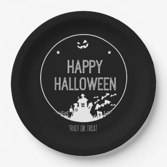 Happy Halloween Trick Or Treat 9 Inch Paper Plate
