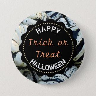 Happy Halloween Trick or Treat Button Pumpkins