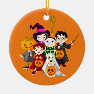 Happy Halloween Trick or Treat Children Ceramic Ornament