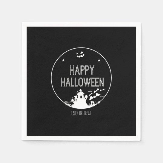 Happy Halloween Trick Or Treat Paper Napkins
