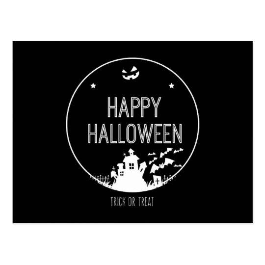 Happy Halloween Trick Or Treat Postcard