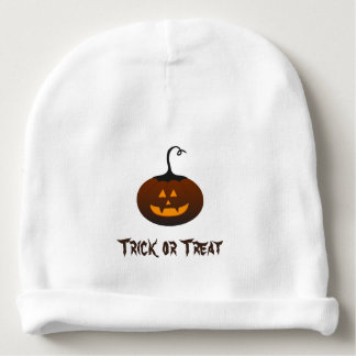 Happy Halloween Trick Or Treat Spooky Pumpkin Baby Beanie
