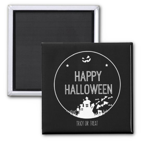 Happy Halloween Trick Or Treat Square Magnet