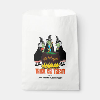 Happy Halloween Trick or Treat Witch Potion Spells Favour Bags