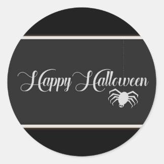 Happy Halloween Typography Classic Round Sticker