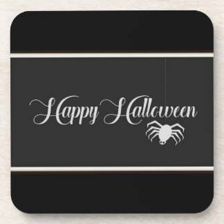 Happy Halloween Typography Coaster