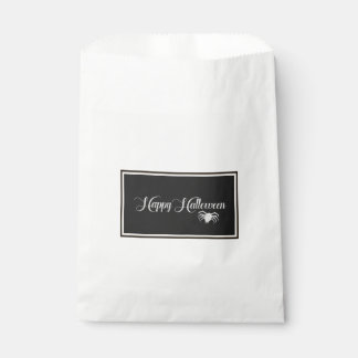 Happy Halloween Typography Favour Bag