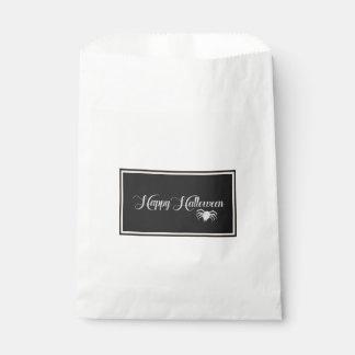 Happy Halloween Typography Favour Bag
