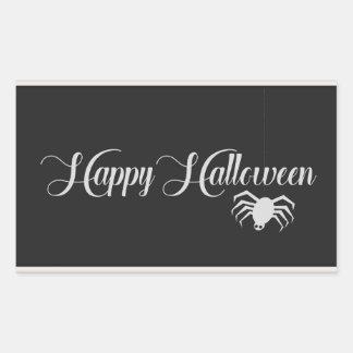 Happy Halloween Typography Rectangular Sticker